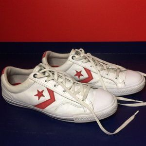 Converse All Star One Star Leather Shoes White/Red